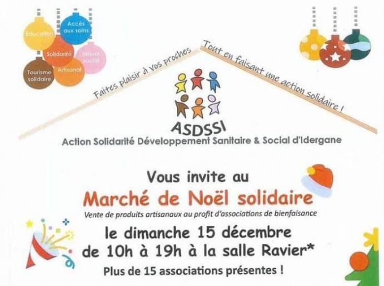 Marché de noël solidaire – 15 décembre 2019