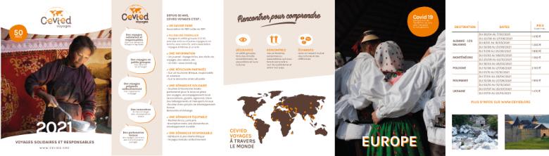 La brochure Cevied Voyages 2021 est en ligne !