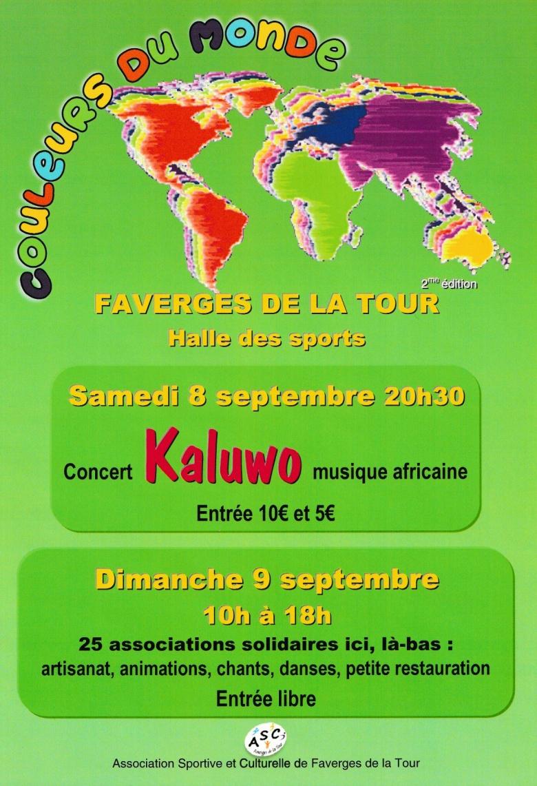 Festival Couleurs du monde – Faverges-de-la-Tour – 9 septembre 2018