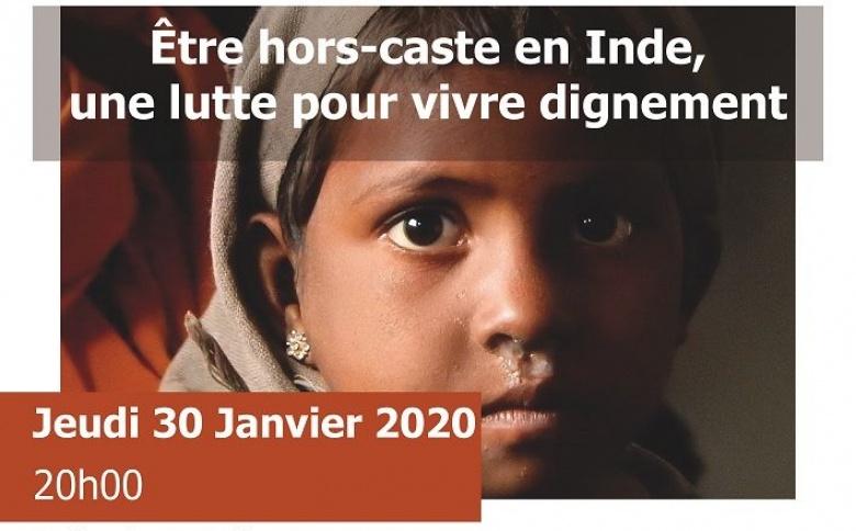 Conférence «être hors-caste en Inde, une lutte pour vivre dignement» – 30 janvier 2020